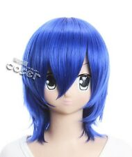 W-95 Fairy Tail Juvia Lockser Loxar COSPLAY blau blue 36cm Perücke WIG Perruque
