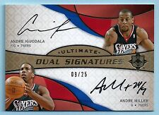 ANDRE IGUODALA ANDRE MILLER 2008/09 ULTIMATE COLLECTION DUAL SIGNATURES AUTO /25