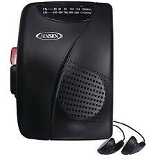 Jensen SCR-70 Stereo AM/FM Radio Cassette Player+Recorder Portable Walkman Black
