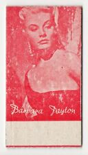 Spanish Weighing Weight Machine Card Calzados Garcera US Actress Barbara Payton