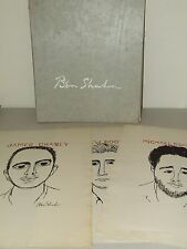 1965 Ben Shahn Human Relations Portfolio w/3 Prints: Chaney, Goodman & Schwerner