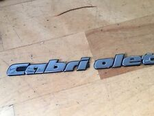"VW GOLF MK3 REAR BOOT LID "" CABRIOLET "" CONVERTABLE CABRIO BADGE EMBLEM BROKEN"