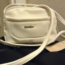 Multi Sac Handbags Messenger Cross Body Double Zip Around Snap Closure WHITE $55