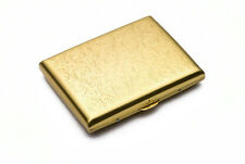 Men Women Thin Slim Gold Polish Flower Engraved Wiredrawing Cigarette Case Box