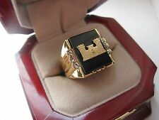 """Superb NEW! Mens """"Army Corp of Engineers"""" CREST Ring"""