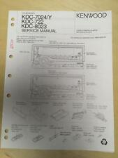 Kenwood Service Manual for the KDC 7024/Y 722 8023 CD Car Radio       mp