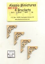 Bracket / Braces - BR35 wooden dollhouse miniature 1:12 scale USA made 4pcs