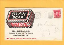 Large Color AD Star Soap Bubb & Sons Grocer Tea Williamsport PA 1906 2-Sides z38