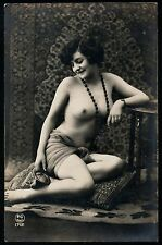 French Art Real Photo ,Nude Girl,Vintage Old Postcard France 1900's