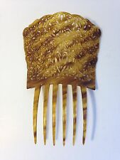 "Vintage Spanish Mantilla Hair Comb-Large 8"" tall 5.5 "" wide-Faux Tortoise Shell"