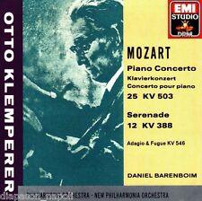 Mozart: Piano Conceerto N.25 Kv 503, Serenata Kv 388 / Otto Klemperer CD Emi