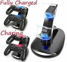 Black Dual USB Charging Charger Docking Station Stand for PS4 Controller