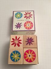 Set Of 4 Flower Stamps By Hero Arts Rubber Stamps