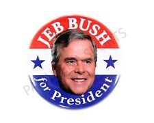 "2016 JEB BUSH for PRESIDENT 2.25"" CAMPAIGN BUTTON, jbs"