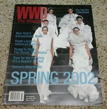 WWD The Magazine Nov 2001 issue #4 Spring 2002 Fashion Collections~NYFW~Top 10