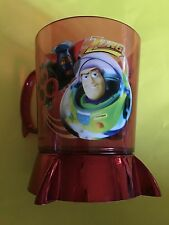 Disney Store Toy Story Zurg Buzz Acrylic Cup Mug Red 2 Sided Rare