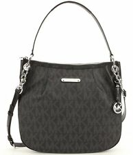 Michael Kors Jet Set Large Signature Convertible Shoulder Bag (Black)