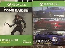 XBOX ONE PREORDER GAME ADD ON CODE