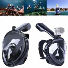 Swimming Full Face Mask Surface Diving Snorkel Scuba for GoPro Black  L Adult