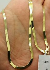 "14k Solid Yellow Gold High Polish Herringbone Necklace Chain 20"" 3.0mm"