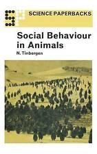 Social Behaviour in Animals (Science Paperbacks), Tinbergen, Nikolaas, Good Book