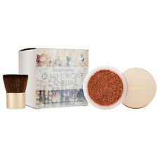 BareMinerals CHAMPAGNE Crystals Illuminating Powder 10g & Kabuki Brush SET BNWOB