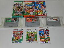 Lot Of 3 Super Famista Baseball 1 3 5 Super Famicom SNES Nintendo CIB Jp