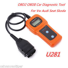 U281 OBDII ABS SRS Engine Car Scanner Code Reader Diagnostic Reset Tool For Audi