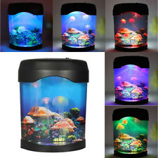 Multicolor LED Light Jellyfish Tank Swimming Mood Lamp Aquarium Night Light