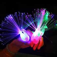 1Pcs Electronic Party Bar Supplies Kid Toy Night Discolor Finger Light Peacock