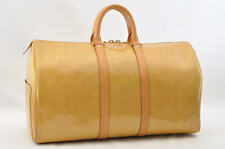 Authentic  Louis Vuitton Monogram Vernis Keepall Yellow #U588