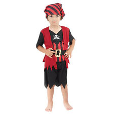 Child Cute Toddler Pirate Boy Mate Fancy Dress Costume Age 18 Months -3 Yrs New