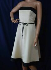 128$ White House Black Market Cream Black Strapless Cocktail Party Prom Dress 2