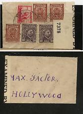 Ecuador  very  small  cover  to  Hollywood, CA  censor          MS0120