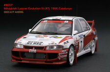 1:43 HPI DIECAST #8557 Mitsubishi Lancer Evolution III (#7) 1996 Catalunya