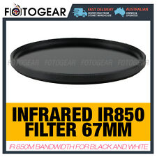 Infrared Filter 67mm IR850 R72 RM90 850nm Canon Nikon Camera Black and White