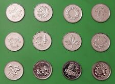 2000 Canada Complete Set of 12 Millennium Quarters From Mint Rolls