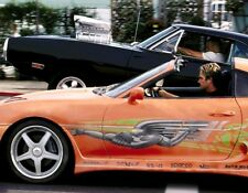 VIN DIESEL PAUL WALKER DRAG RACE FAST AND FURIOUS MOVIE 8X10 GLOSSY PHOTO - WOW!