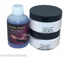 60ml Acrylic Liquid + 30g White French + 30g Pink Clear Natural Acrylic Powder
