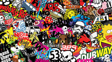 NEW STICKERBOMB SHEET @ 200MM X 110MM (FREE P&P!!) VW/ PETROL FLAP/ DRIFT / JDM
