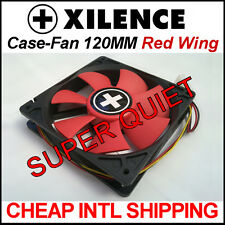 [Xilence] 120mm Red Wing Super Silent Case Fan   Quiet 12cm Computer PC Cooler