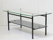 SUPERBE TABLE BASSE 1950 A DOUBLE PLATEAU VINTAGE 50's ROCKABILLY ATOMIC TABLE