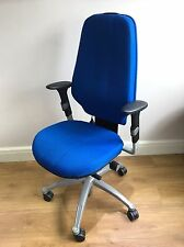 BLUE FABRIC RH400 FULLY ERGONOMIC OFFICE TASK CHAIRS. SIT UP TO 16HRS AMAZING