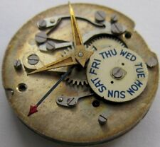 Wittnauer 10SC 17 jewels calendar watch movement for parts