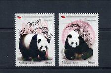 Malaysia 2015 MNH Giant Pandas 2v Set Wild Animals Fauna Xing Xing Liang Liang
