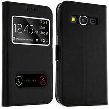 Etui Housse Coque Pochette Noir Intérieur Silicone pour Samsung Galaxy S7