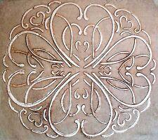 Stencil, Plaster Stencil, Have A Heart Medallion Wall Stencil, Stencils