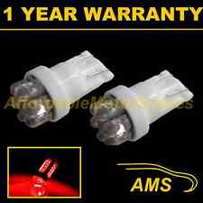 2X W5W T10 501 XENON RED 7 DOME LED INTERIOR COURTESY LIGHT BULBS HID IL100401