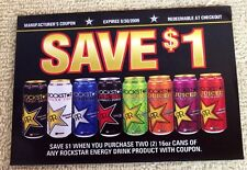 "ROCKSTAR Punched Juiced ZERO Energy Drink Coupon Exp 2009 4.5""x3.25"" Unused RARE"