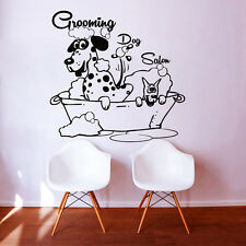 Dog Wall Decals Grooming Salon Decal Vinyl Sticker Pet Shop Scissors Decor MN480